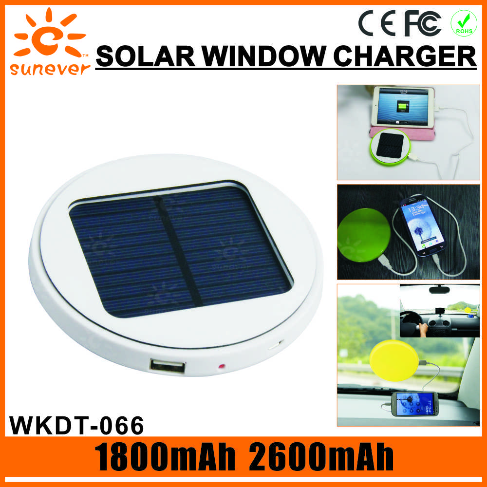 1800mAh solar charger for cell window mounted solar charger folding solar charger