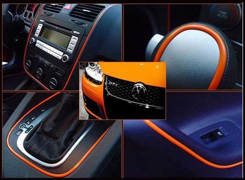 2 X 5Meters Car Styling indoor Car Interior Exterior Body Modify Decal Mouldings Auto Car Stickers Decoration Thread 6 Color