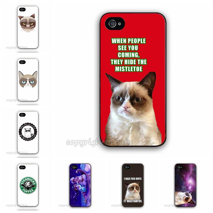 2015 Hot Selling 15 Custom Designs Grumpy Cat Case For Apple iPhone 5C Printed font b