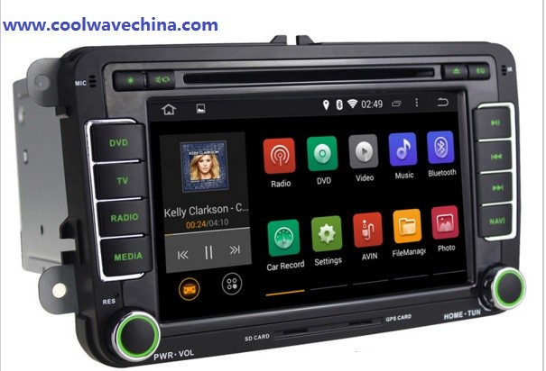 skoda radio RNS510 VW DVD Radio Android5.1 HD1024X600 skoda wifi 3G bluetooth .... does not have red light(China (Mainland))