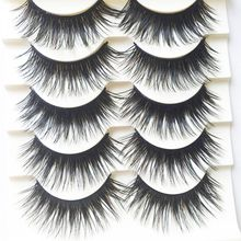 5 Pairs Handmade Black Voluminous False Eyelashes Makeup Very Thick Long Fake Eye Lashes Extention Tools(China (Mainland))