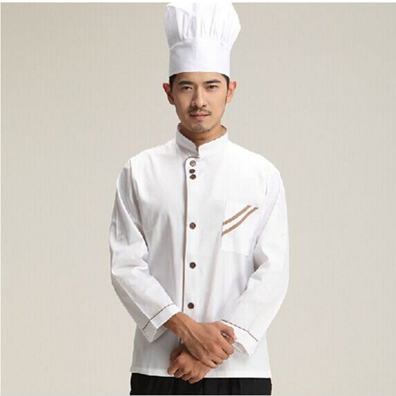 2016 Apron cleaning Long sleeve Chef Jacket Uniforms Kitchen cooking suit Tops Food Services ooking Clothes men women spring(China (Mainland))