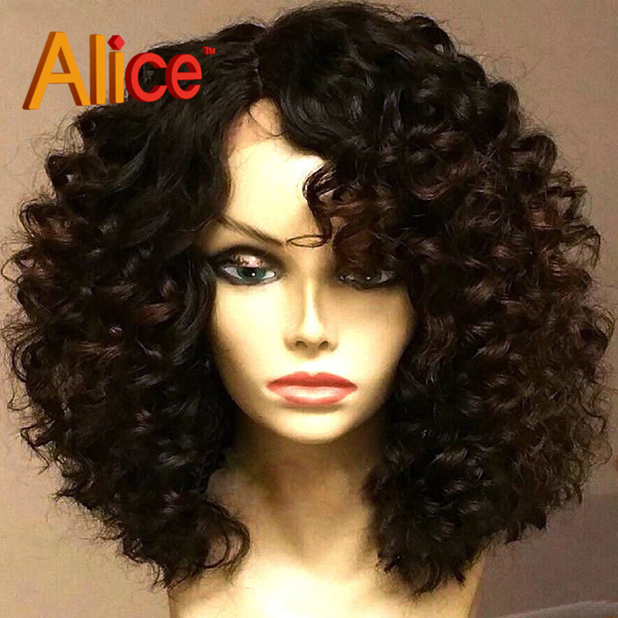 Brazilian Short Lace Front Wigs Human Hair Glueless Short Curly Lace Front Wigs Virgin Human Hair Curly Wig For Black Women(China (Mainland))