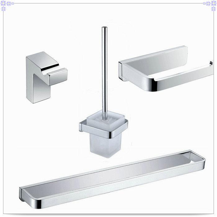 Bathroom hardware set square bath toilet set paper holder towel bar robe hooks Toilet Brush Holder CB000Y-1 single(China (Mainland))