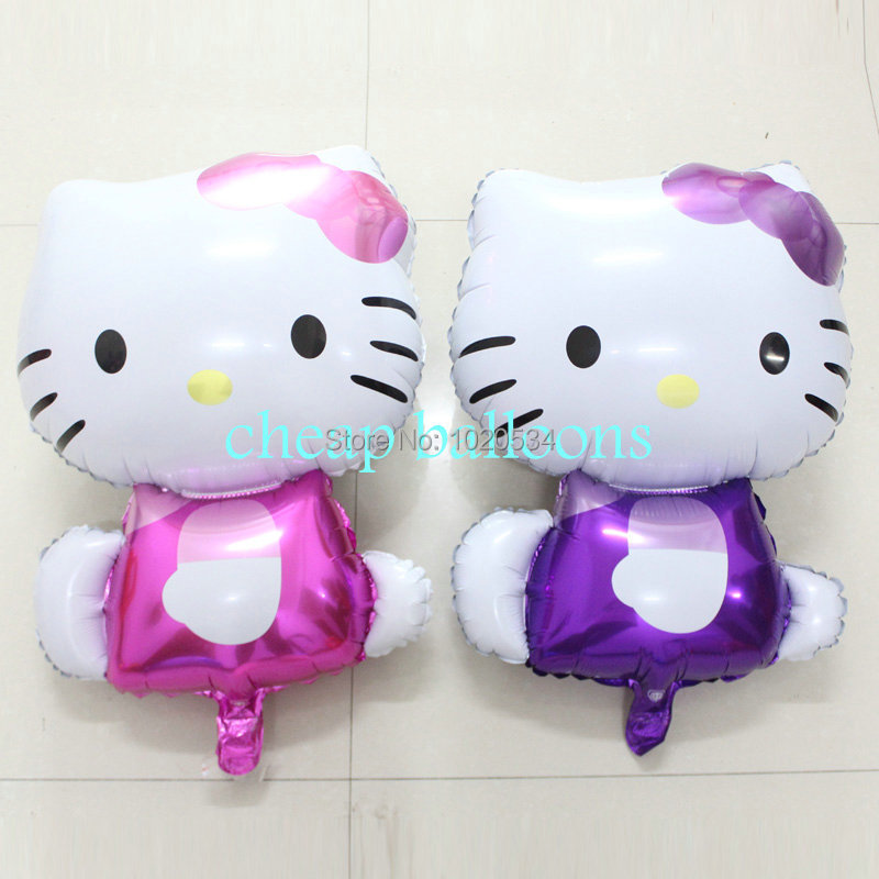Newest 100pcs/lot adorkable Hello Kitty cat foil balloons for birthday &amp;wedding decoration inflatable Classic toys party <br><br>Aliexpress
