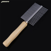 Perfect Stainless Steel Pet Dog Cat Puppy Hair Fur Double-sided Brush Comb Grooming Tools durable Pets Products Art