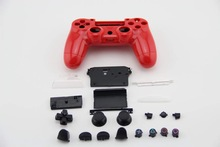 New Replacement Parts Full Housing Shell Protective Case Button Kit for PlayStation4 PS4 Wireless Controller–RED