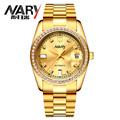 Luxury watch men Golden Watch Automatic Mechanical Watches NARY Brand Tourbillon Business Black Male Complete Calendar