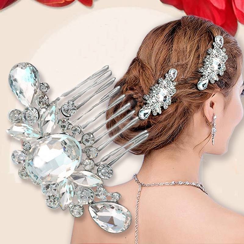 New Fashion Pearl Crystal Bridal Rhinestone Hair Clip Claw Comb Pin For Women Barrette Wedding Headdress Girls Hair Accessories(China (Mainland))
