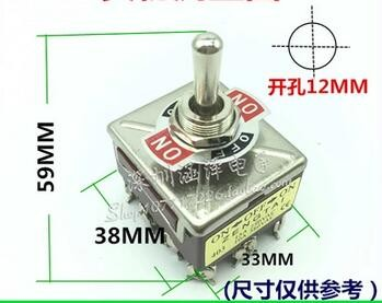 100 PCS LOT free shipping 12MM ON-OFF-ON 12 feet 3 file 4PDT Toggle Switch<br><br>Aliexpress