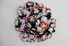 Free Shipping 1000pcs/lot Kitty PVC shoe charms ,shoe decoration fit croc for children gift(China (Mainland))