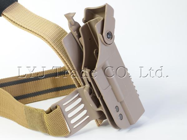 Hunting Gun Accessories New Tan Tactical Pistol Drop Right Leg Thigh Holster for Glock 17 18 19 21 22 23 26 30 Leg Holster<br><br>Aliexpress