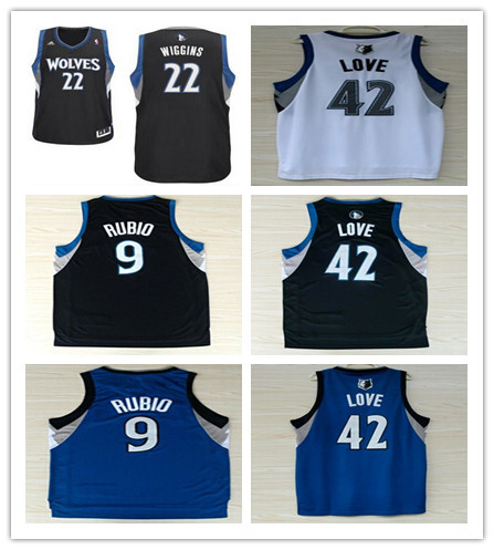 Free shipping basketball jerseys Timberwolves Love Basketball Jersey with Embroidery logos,size :s-xl(China (Mainland))