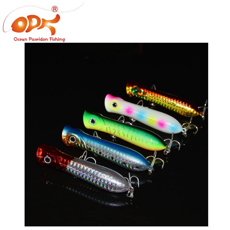 3pcs/lot  Lure Popper  Baits 11.5g/8cm luminous lure fishing baits for deep sea GT  OPF