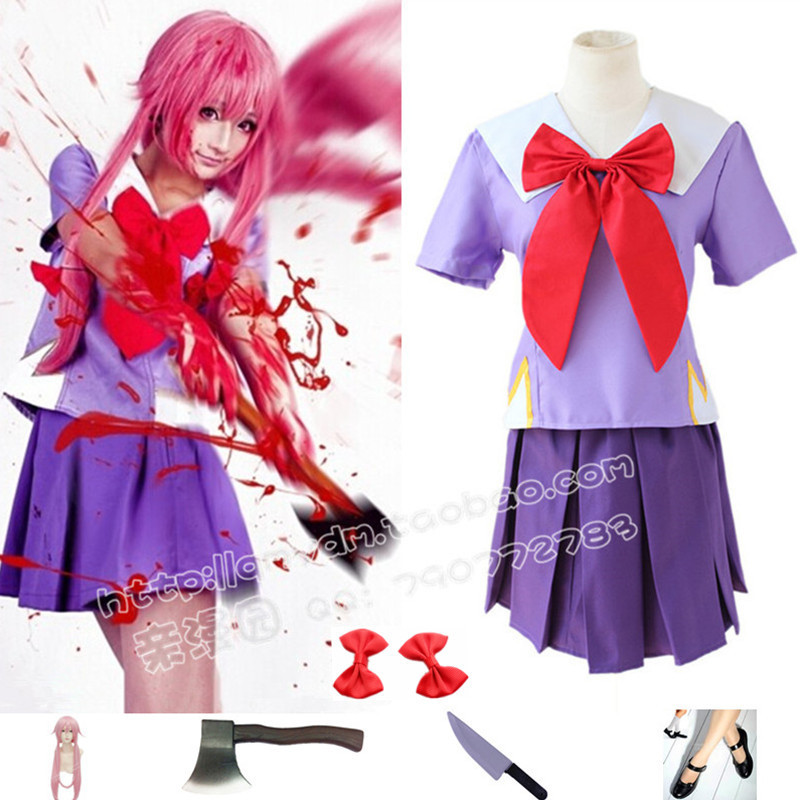 DB23686 yuno gasai costume cosplay-6