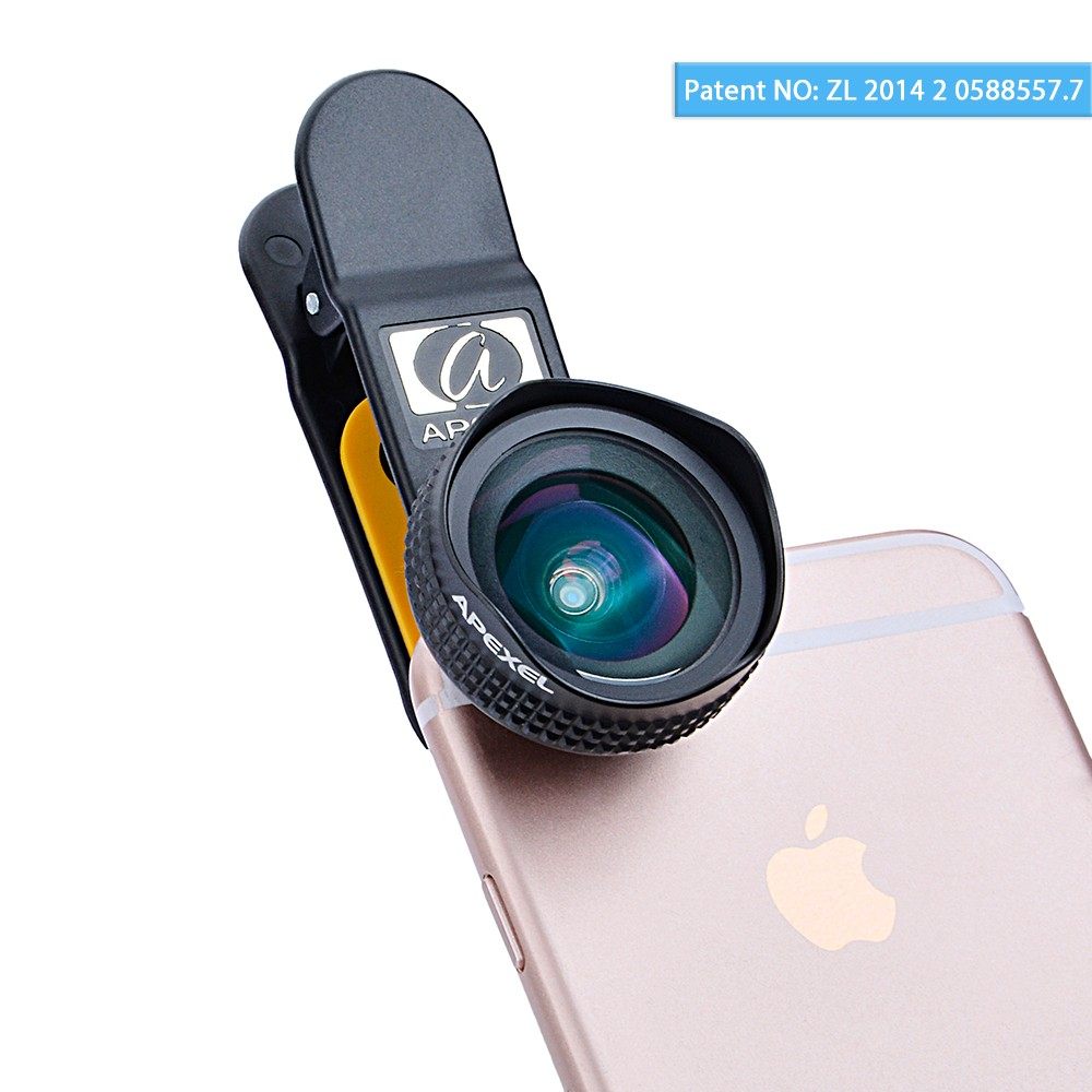 Apexel Optic Pro Lens 18MM HD Wide Angle Cell Phone Camera Lens Kit 2X More Landscape for iPhone Samsung HTC and Smarphones 18MM(China (Mainland))