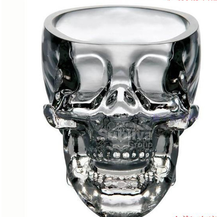 Skull Glass beer stein shot wine glass Head Whiskey Drinking popular design new fashion party(China (Mainland))