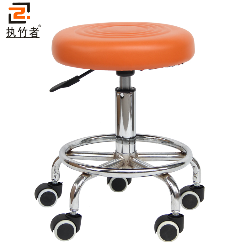 Bar stool bar chair lift great work nail silver barber Leather