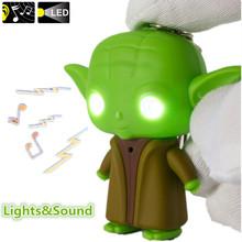 G0117  Star War Jedi Master Yoda with Sound and Led Flashlight Action Figure Toys Keychain(China (Mainland))