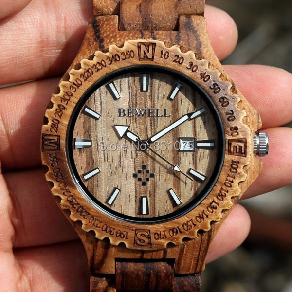 Unique design Japan movement fashion Bewell Wood Wooden Watch