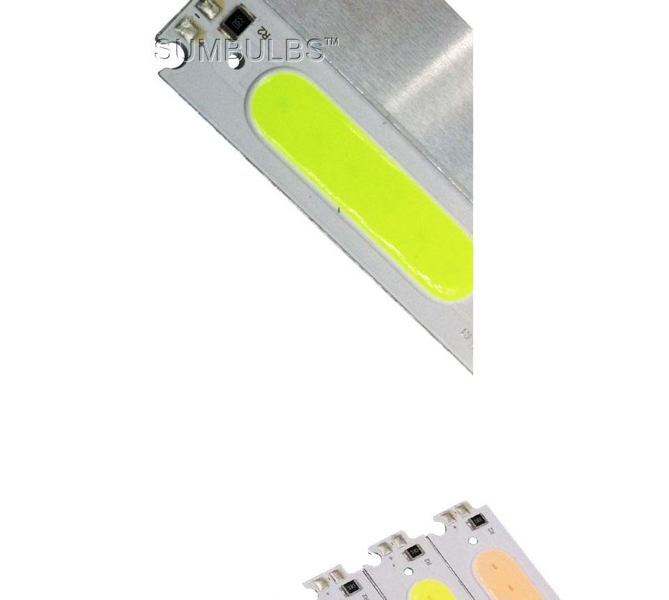 COB LED Module White Yellow Orange Green Blue Red Purple 60x15mm 2W DC 12V DIY LED Chip Matrix Lamp Bulb 60MM Lights (7)