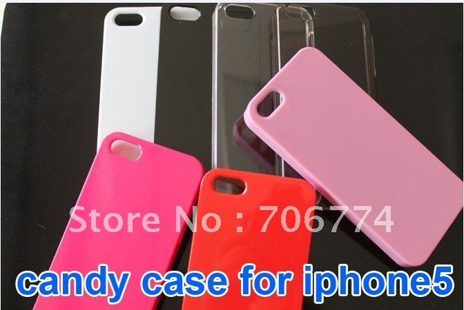 hot sale new plastic Succinct Protective Plastic Solid & Crystal Clear Back Case For iPhone 5 5S 7 colors 1000pcs/lot(China (Mainland))