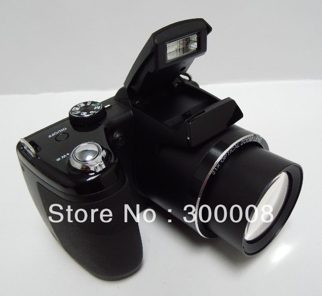 "professional digital camera with 16mp sensor and 21x optical zoom,3.0"" TFT LCD Free Shipping"