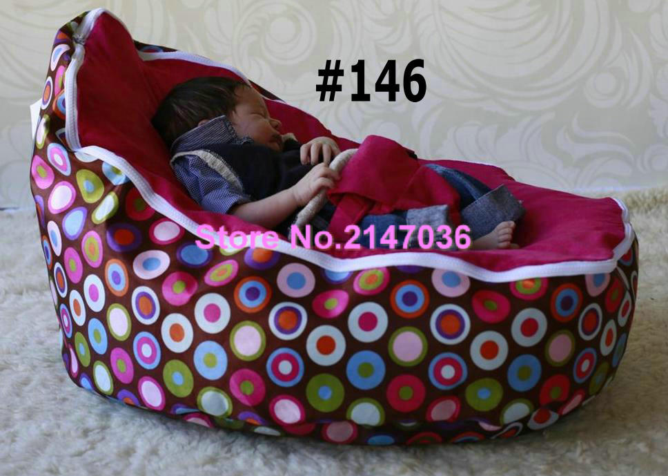 Discojelly pink bubbles balls super comfortable bean bag chair wholesale baby crib bedding set(China (Mainland))