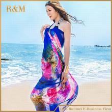 Women Summer Dress Ladies Chiffon Wrap Sarong Beach Swimwear Swimsuit Beach Bathing Cover Up Bikini Scarf Pareo 190cm*140cm