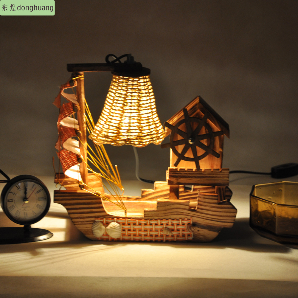 Free shipping wooden lamps living room bedroom dining for Decorative items for dining room