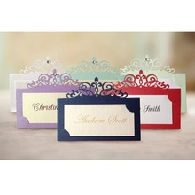 35pcs/lot muti colors rhinestone decorated Personalized Place card name card for party and wedding