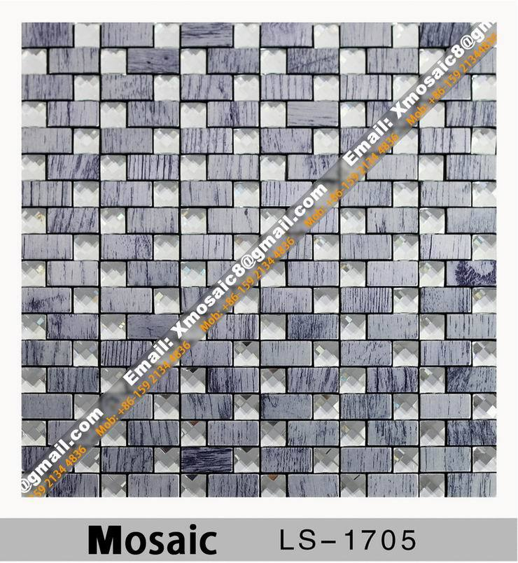 Aluminum Wall Mosaic #LX-1705; Interior Ceiling and wall decoration materials; Size is 305MMX305MM per Piece<br><br>Aliexpress