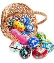 20pcs/lot the foam made easter egg Wholesale Easter eggs gift Easter eggs color Easter 6 cm* 8cm!!(China (Mainland))