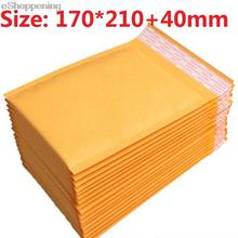 170*210+40mm New Padded Kraft Bubble Envelope Express Fragile Items Little Gadgets Gift Mailer Mailing Package Bags Wholesale(China (Mainland))