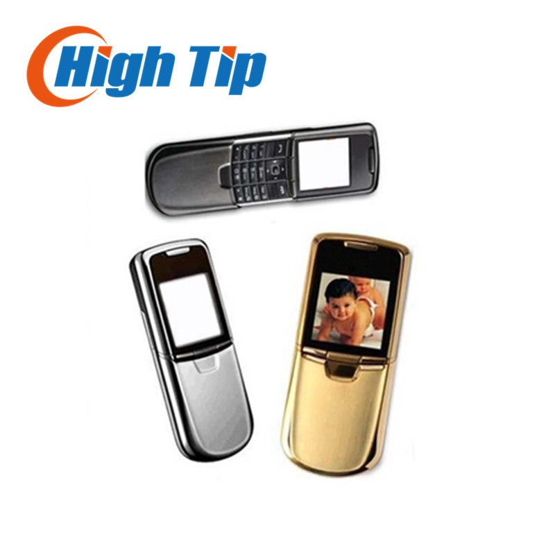 Nokia original 8800 gold cell phone English or russian keyboard with desktop charger leather case strap Freeship Refurbished(China (Mainland))