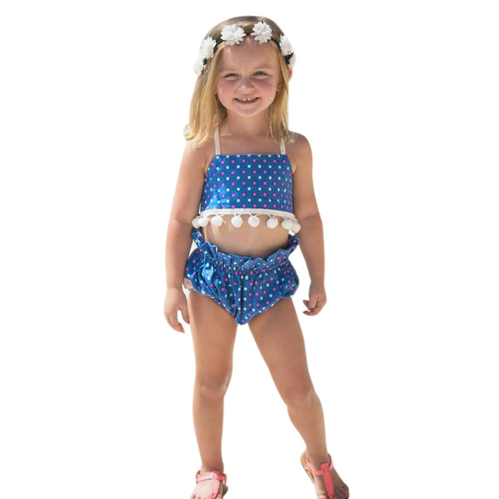 bambini costume da bagno bikini 2017 del capretto del bambino ragazze a due pezzi costumi da