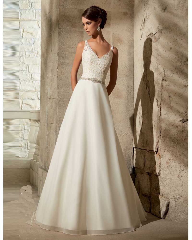 Buy vestido de noiva sexy lace country for Lace western wedding dresses