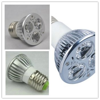 Free shipping Dimmable E27 9W CREE LED Spotlight Bulbs white 85-265V downlights 3x3W VS 50W 50/60Hz LED Spotlight 550Lm
