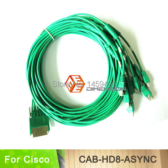 10FT Network router cable HD8 cable CAB-HD8-ASYNC cable 8-port EIA-232 Async for Cisco router(China (Mainland))