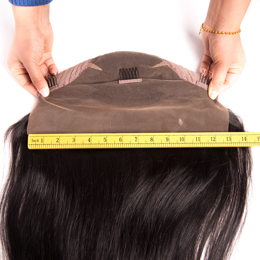 Mslynn Peruvian Straight Hair Bob Lace Front Wigs With Baby Hair 14 Inch Non-remy Natural Color Hair Free Shipping