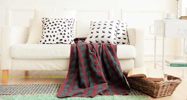 30% wool blending warm sofa cover, classical abstract style wearable blanket , sofa towel, car blanket for winter(China (Mainland))
