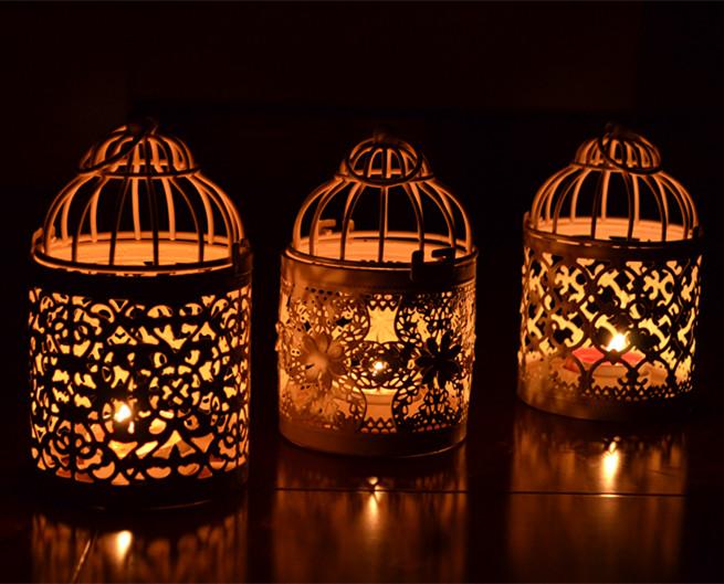European Iron Cage Retro Morocco Lantern Candle Holders Home Furnishing Decoration Photography Props Gift(China (Mainland))