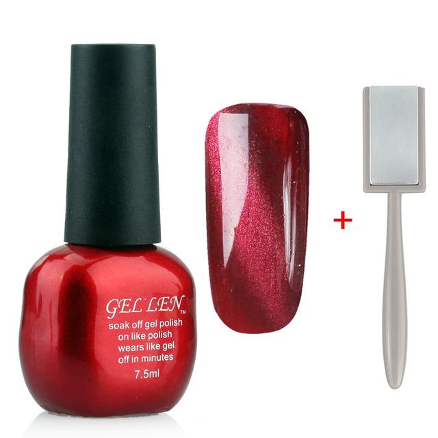 Гель лен ногтей ногтей магнитное кот-глаза геля для ногтей из светодиодов уф выдерживает-цвет ...