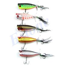 100mm Fishing Lure Crankbait With Propeller Feather Sharp Hook Tackle Treble New