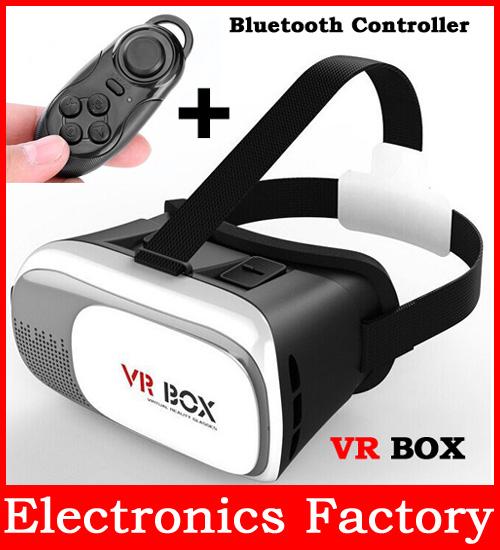 Magicbox VR Box V2 Play Virtual Reality Helmet 3D Glasses Google Movie Game Cardboard Film Oculus Rift DK2 +Bluetooth Controller<br><br>Aliexpress