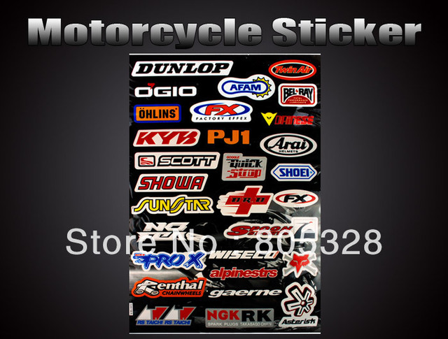 Hot ! Wholesale 5pcs /set Speed Racer Combination Logo Sport Motorcycle Sticker Car Decal