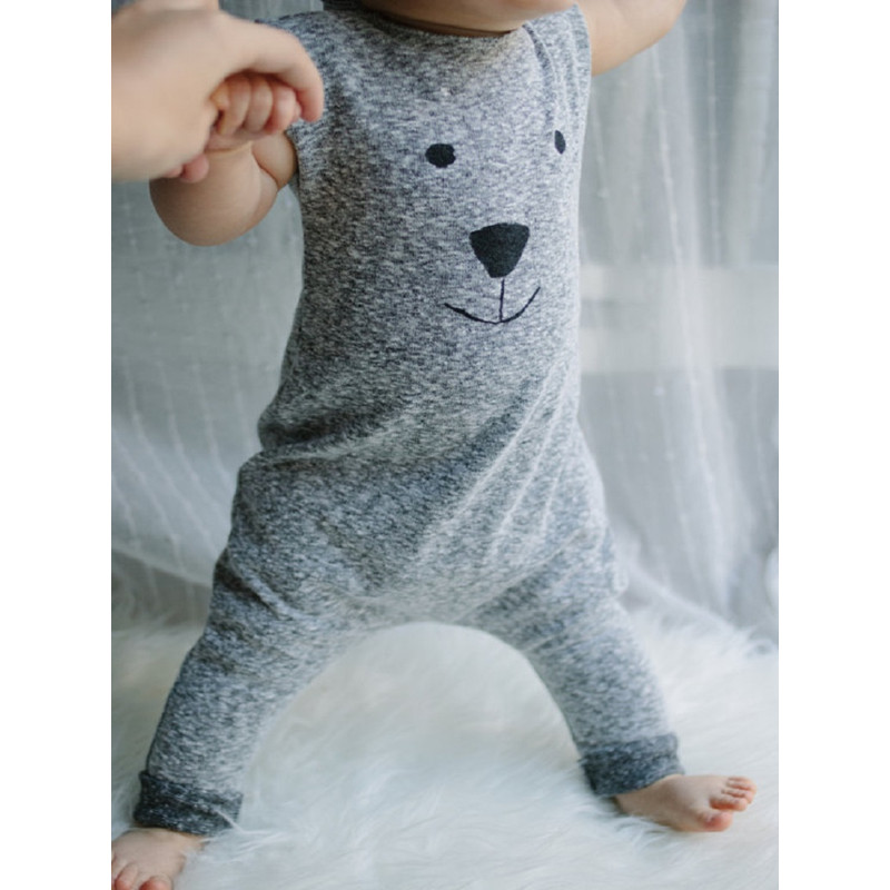 Newborn Rompers with Bear pattern 2016 Cute Toddler Baby Girl Boy Bear Jumpers Rompers Playsuit Outfits Clothes 0-24M(China (Mainland))