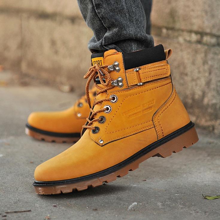 Здесь можно купить  2015 New Winter Boots Men Martin boots cotton boots retro fashion trend of Korean men and men