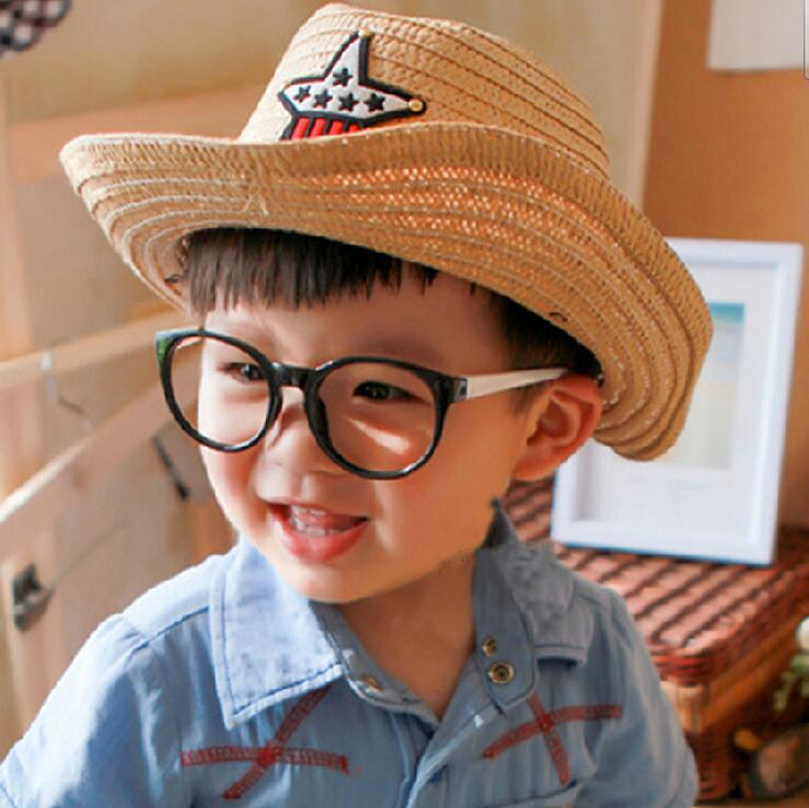 2016 New Top Fashion Summer Female Baby Boy Cowboy Children Sun Hat Hat Five-pointed Star Cap Free Shipping(China (Mainland))