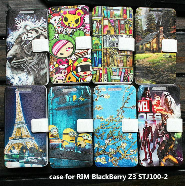 Universal leather phone case for RIM BlackBerry Z3 STJ100-2 case cover(China (Mainland))